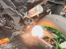 Kawasaki Z1000 auf Lachgas und SC-Project