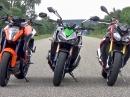 Kawasaki Z1000, KTM 1290 Super Duke R, BMW S 1000 R