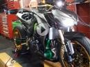 Kawasaki Z1000 mit Turbolader Dynorun > 195HP
