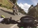 Engagiertes Kuhtreibing: Kawasaki Z1000 vs BMW 1200GS - AV. Palmas, Kolumbien