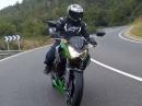 Kawasaki Z300 die 'kleine' Nackte beim Launch in Girona, Spanien