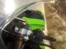 Kawasaki ZX-10R Crash - Niegelnagelneue Kawa übers Vorderrad geschrottet