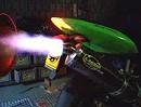 Kawasaki ZX10 mit Laser Auspuff auf Prüfstand - den Fuxx rausschmeißen.