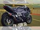 Kawasaki ZX10R SE Rennstrecke und Landstraße in Spanien