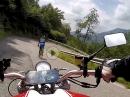 Kehrenwahnsinn am Colle di San Fermo Richtung Bergamo mit Ducati Monster