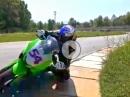 Kenan Sofuoglu vs.Kawasaki Z300 - Kenan lässts krachen