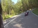 Kesselberg mit Kawasaki Z750