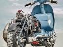 Killer Vespa Custom 'Ten Inch Terror' mit Husqvarna WR360 Motor