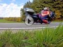 Kneesliding BMW R1200RT - Blechsofa auf dem Knie ums Eck