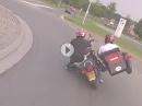 Knieschleifen mit Motorradgespann :-)