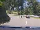 Könner oder Spinner? KurvenradiusTV: Ich fahre auf der Strasse Hangoff weil ich überzeugt bin das es sicherer ist.