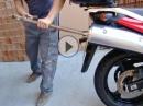 Kreativ spanisch die Auspuffanlage einer Suzuki V-Strom modifizieren - mit Soundcheck