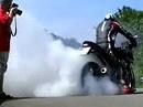 Motorrad Burnout - Kreisdrehen mit Suzuki Katana