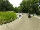 Kurvenspaß zwischen Ajdovscina und Godovic in Slowenien
