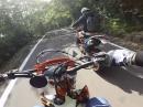 KTM 450 Supermoto onboard - Wemsing irgendwo am Gardasee Braaaap Braaaapp