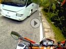 KTM 690 Reisebus vs Supermoto - Eng aber machbar - puuhhh
