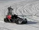 KTM drifting on ice: X-Bow, 530 EXC und Quad