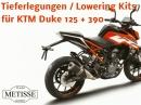 KTM Duke 390 & 125 Tieferlegungen 25-45 mm von Team Metisse