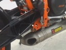KTM Duke 690 mit Akrapovic Full Race Auspuffanlage