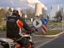 KTM Duke Energierunde an Heilgabend im Braunkohlerevier