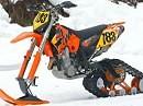 KTM jetzt auch für den Schnee - der nächste Winter kommt bestimmt.