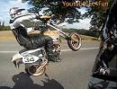 KTM LC4 640 Einradfahren und Wheelisieren