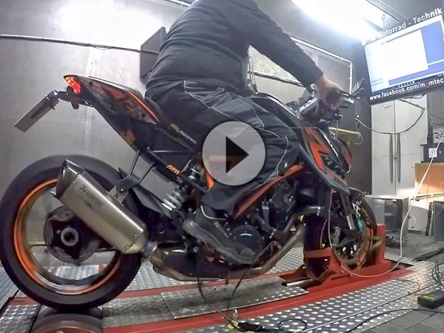 KTM SuperDuke 1290 Dyno > 180PS >150NM Akra, ECU Mapping