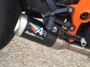 KTM Superduke 1290 mit Austinracing GP1R Auspuff - bassig