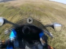 Kurve ausgegangen, ab in die Wiese - Beinah Crash mit Suzuki GSX-R 600RR