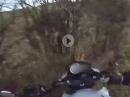 Kurve, Schiß, aufgemacht: Crash in die Hecke! Kuckst du Scheisse, fährst du Scheisse