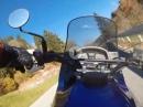 """""""Kurvenhatz"""" mit 89er Honda Transalp 600V, Weinebene, Österreich"""