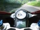 Kurvenreiche Straße, Bridel, Luxemburg mit Ducati 999