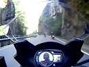 Motorradtour auf kurvenreicher Talstrasse in den Dolomiten Sommer 2010