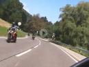 Kurvensurfen am Rursee, Eifel, mit Suzuki Katana