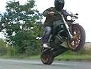 Kurzer Wheelie