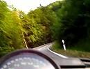 Kyffhäuser mit 900 Ducati Monster. Nicht der Schnellste, aber angekommen.