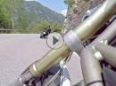 Lago di Valvestino mit Ducati Monster und Freunden