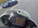 Lamborghini Gallardo vs. Aprilia Tuono - oben raus ist er weg ...