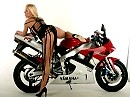 Lana Cox and Yamaha YZF R1