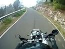 La Palma, Kanaren, in den Bergen Motorradtour mit Honda Transalp