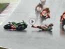 Lausitzring SBK-WM 2016 Race 2 Highlights - Regenchaos / Sturzfestival