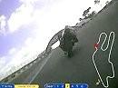 Le Mans - Circuit Bugatti onboard - Honda 500CB mit laufender Streckenskizze