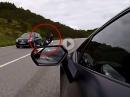 Lebensgefährlich: Lamborghini rechts überholt, Lenkerschlagen, ab in den Gegenverkehr - Beinah Crash