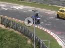 Lebensgefährlich Motorrad Burnout: Nürburgring Nordschleife - Volltrottel