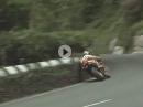 Lederkombi am Arsch, zu nah an der Wand: Robert Holden 1995 Senior TT IOM