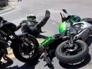 Lenkeinschlag, zu hart gebremst, Vorderrad eingeklappt Crash  - Kein Einzelfall