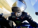 Lewis Hamilton onboard Valencia, Yamaha MotoGP - nicht schlecht!