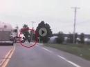LKW Beinah Crash: Trottel, der LKW hat doch geblinkt