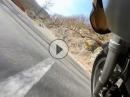 Lorch, Sauerthal, Ransel mit BMW R1200GS in schnell