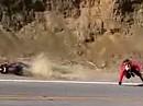 Lowsider Crash Yamaha R1 Wo? Da wo es immer kracht! Mulholland Highway